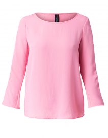 Bubblegum Pink  Ruched Blouse