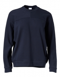 Frine Navy Plush Cotton Sweatshirt