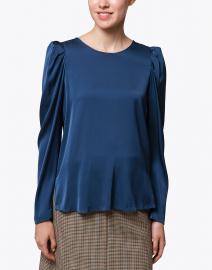 Kobi Halperin - Lois Blue Stretch Silk Georgette Blouse