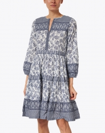 Bella Tu - Erin Indigo Floral Cotton Dress
