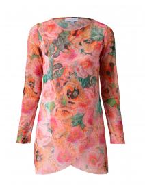Diane Pink Floral Mesh Tunic Top