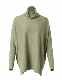 Sage Green Wool and Cashmere Turtleneck Sweater