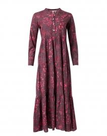 Burgundy Floral Cotton Dress