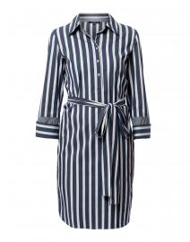 Fabiola Blue and White Striped Shirt Dress