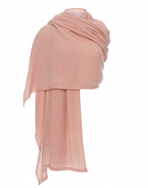 Blush Pink Cashmere Travel Wrap