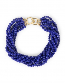 Lapis Torsade Multi Strand Necklace