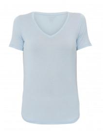 Pale Blue Extrafine Stretch Viscose Top