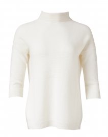 Kinross - White Textured Cashmere Sweater