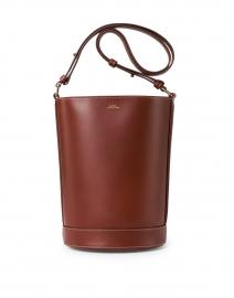 Ambre Cognac Leather Bucket Bag