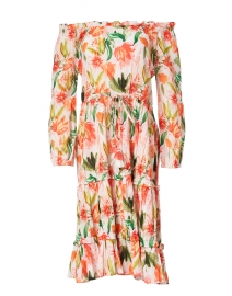 Meadow Pink and Green Floral Printed Cotton Dress