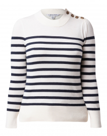 Elodie Midnight Blue and White Sweater