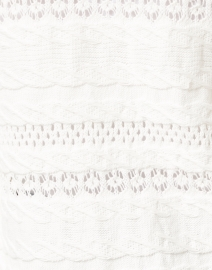 Kobi Halperin - Martina White Cable Knit Cotton Cardigan