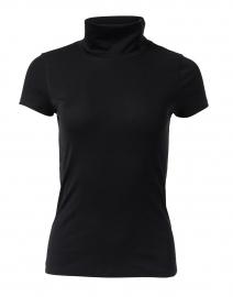 Black Stretch Cotton Top