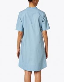 Rosso35 - Blue Stretch Cotton Henley Dress