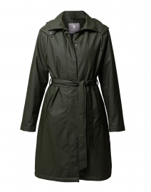 W Trench Green Padded Rain Jacket
