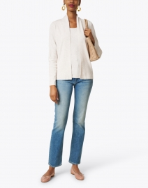 J'Envie - Oatmeal Stretch Knit Cardigan Top