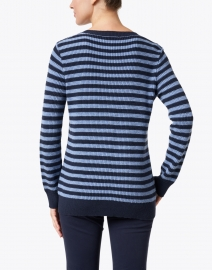 Sail to Sable - Navy and Blue Striped Cotton Sweater