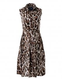 Audrey Sepia Animal Printed Stretch Cotton Dress