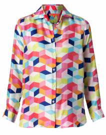Dover Multi Geometric Printed Silk Shirt