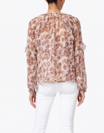 Veronica Beard - Zanita Floral Print Silk and Lurex Top with Cami
