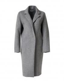Medium Heather Grey Classic Wool Blend Coat