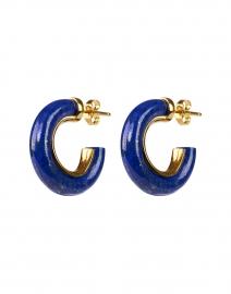 Lapis Small Hoop Earrings