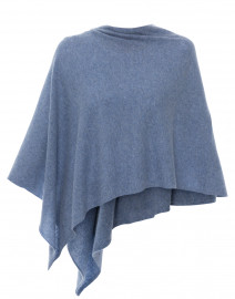 Heathered Blue Cashmere Ruana