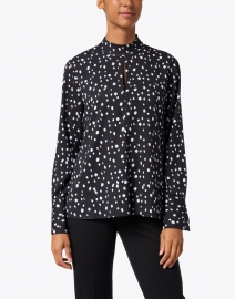 Ecru - Ross Black and White Abstract Dot Printed Blouse