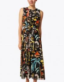 Lafayette 148 New York - Nia Black Multi Print Silk Dress