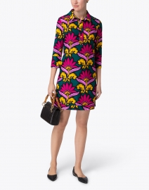 Jude Connally - Babe Pink and Green Floral Printed Dress