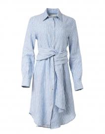 Blue and White Stripe Linen Shirt Dress