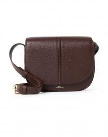 Betty Dark Brown Grained Leather Crossbody Bag