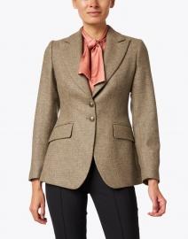 T.ba - Beige and Gold Lurex Tweed Swing Jacket