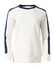 Ivory French and Blue Terry Sweatshirt