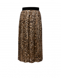 Animal Printed Pleated Skirt