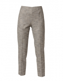 Monia Beige and Black Houndstooth Stretch Pant