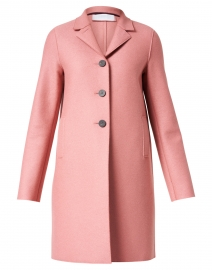 Rose Pink Pressed Wool Overcoat