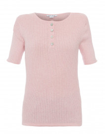 Oleander Pink Ribbed Cotton Top