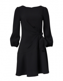 Abbey Black Stretch Crepe Dress