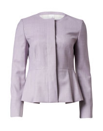 Jatoba Light Rose Wool Peplum Jacket