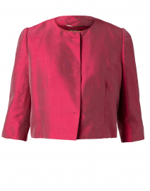 Mino Red Silk Cropped Jacket