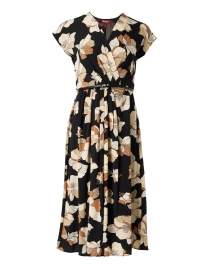 Cordoba Black and Beige Floral Print Dress