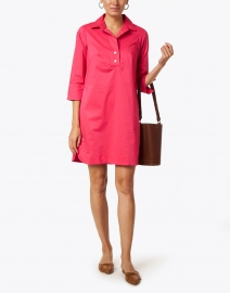 Hinson Wu - Aileen Bright Pink Stretch Cotton Dress