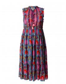 Clara Pink and Blue Ikat Print Dress