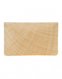 Kayu - Capri Natural Straw Clutch with Agate Clasp