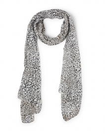 Black and White Animal Print Modal Scarf