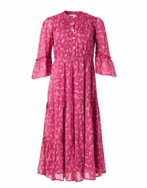Bernice Pink and Camel Animal Printed Cotton Voile Dress