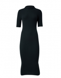 Dark Green Cashmere Ribbed Dress
