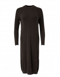 Marica Brown Stretch Wool Silk Knitted Dress