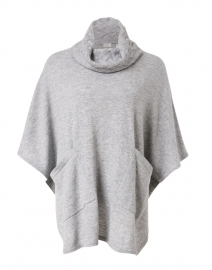 Sterling Grey Cashmere Poncho